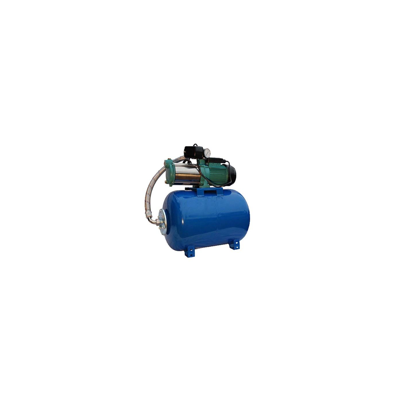 Wasserpumpe 1300-2200W 100l/min 24-100L Druckbehälter Gartenpumpe Hauswasserwerk Set