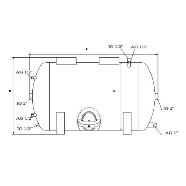 druckbeh lter 100 bis 300l 6 bar liegend druckkessel verzinkt f r hauswasserwerk probaumarkt. Black Bedroom Furniture Sets. Home Design Ideas