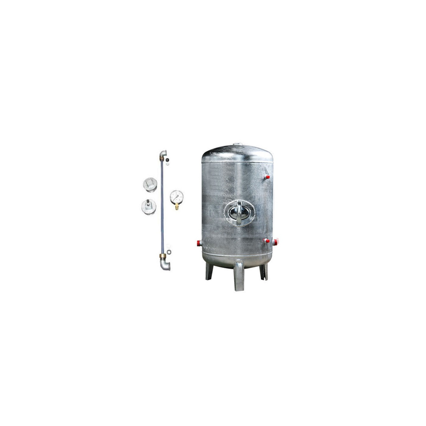 druckbeh lter 100 bis 500l 6 bar senkrecht mit zubeh r verzinkt druckkessel f r hauswasserwerk. Black Bedroom Furniture Sets. Home Design Ideas