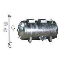 Druckbehälter 100 bis 300L 6 bar liegend mit Zubehör verzinkt Druckwasserkessel Druckkessel für Hauswasserwerk