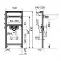 Vorwandelement Montagerahmen für Waschbecken Waschtisch Hänge Einbauelement Wand 85 cm