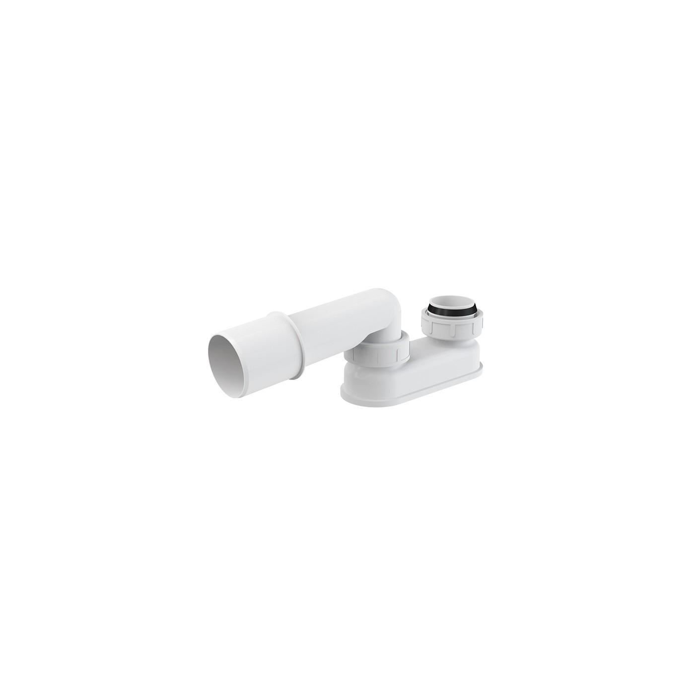 Geruchsverschluss für Ab Überlaufgarnitur DN 50 Badewanne Siphon Sifon Syfon Extra Flach Flachsiphon