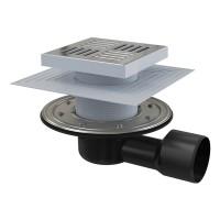 Bodenablauf Waagerecht Duschablauf Badablauf Edelstahl begehbare Dusche DN 150/50/75 Siphon Geruchsverschluss