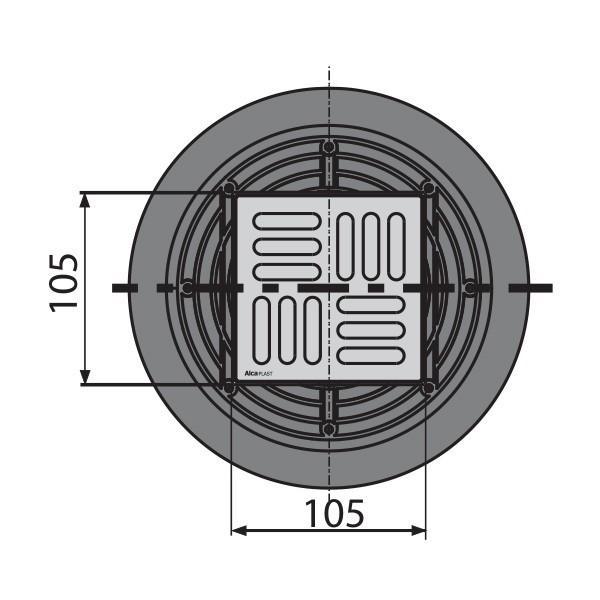 bodenablauf senkrecht 105x105 50 70 duschablauf badablauf edelstahl begehbare dusche flach. Black Bedroom Furniture Sets. Home Design Ideas