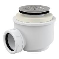 Dusche Ablaufgarnitur DN 50 Ablaufbogen Geruchsverschluss Siphon Sifon Duschtassse Garnitur rostfrei