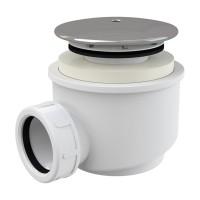 Dusche Ablaufgarnitur DN 60 Ablaufbogen Geruchsverschluss Siphon Sifon Duschtassse Garnitur Verchromt