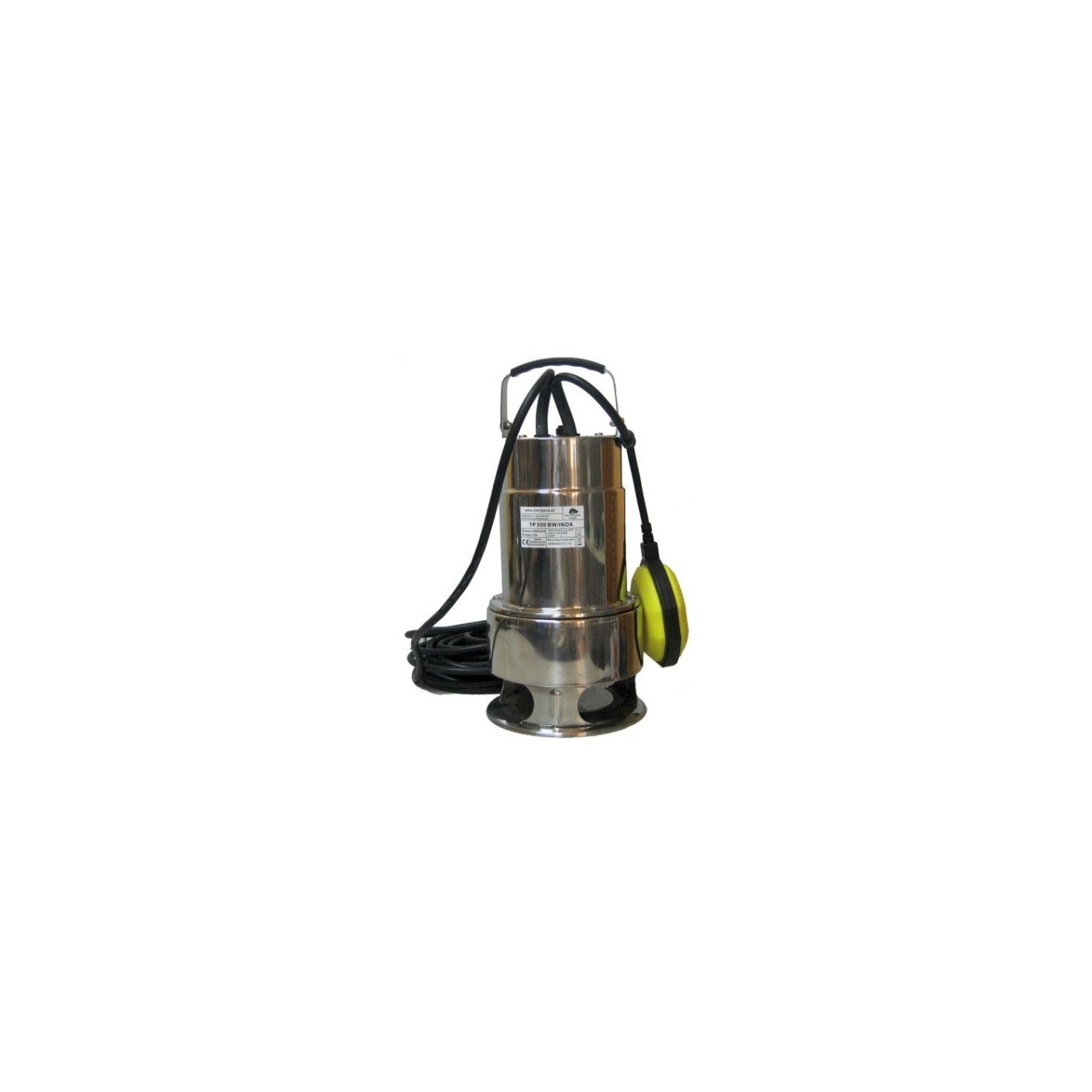 Pumpe 550W Edelstahl Wasserpumpe Gartenpumpe Tauchpumpe  Schwimmerschalter