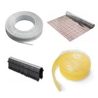 100 m² Fußbodenheizung Set : Folie, Mehrschichtverbundrohr, Randband,Tackernadeln