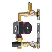 Festwertregelset für Fußbodenheizung mit Webermann Pumpe 25-40 ATM Mischventil