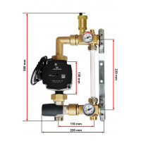 Grundfos Festwertregelset für Fußbodenheizung mit Pumpe 25/70 Kl A.