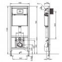 Sanit WC Vorwandelement Unterputzspülkasten Spülkasten Wand WC hängend 112 cm inkl. Drückerplatte