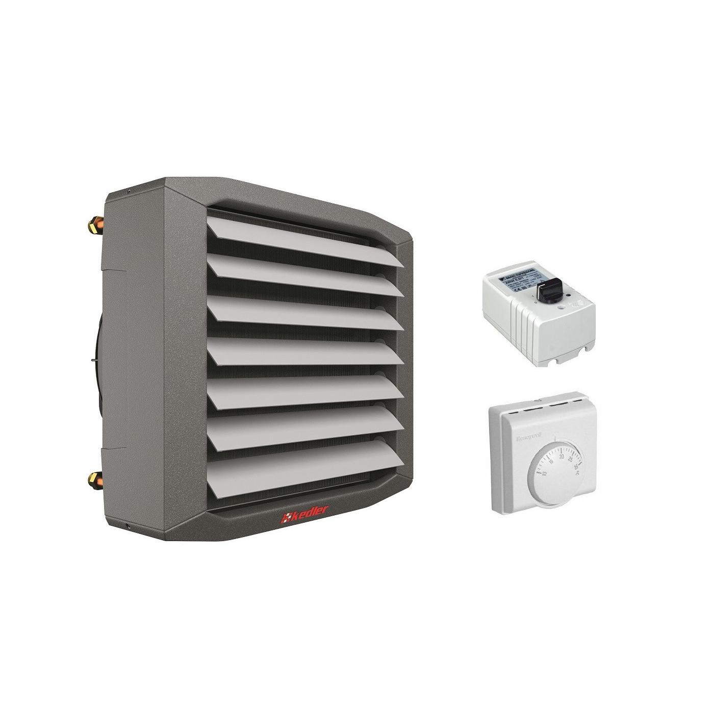 Lufterhitzer 10 kW Montagekonsolle Drezahlsteller Raumthermostat Hallenheizung Luftheizer
