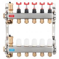Edelstahl Heizkreisverteiler 3-12 fach Durchflussmesser Fussbodenheizung Entlüfter Durchflußanzeiger Halterung Top Qualität