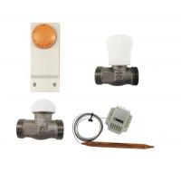 HERZ Regelset f FH Fußbodenheizung bis 45 qm Thermostat mit Anlegethermostat Kapillare Thermostatkopf