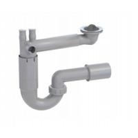 Spültisch Siphon Ablaufgarnitur Anschluss an Wasch o. Spülmaschine Spülbecken Spüle