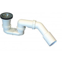 Dusche Ablaufgarnitur DN 50  Chrom  Stopfen  Ablaufbogen Geruchsverschluss Siphon Sifon Duschtassse Garnitur