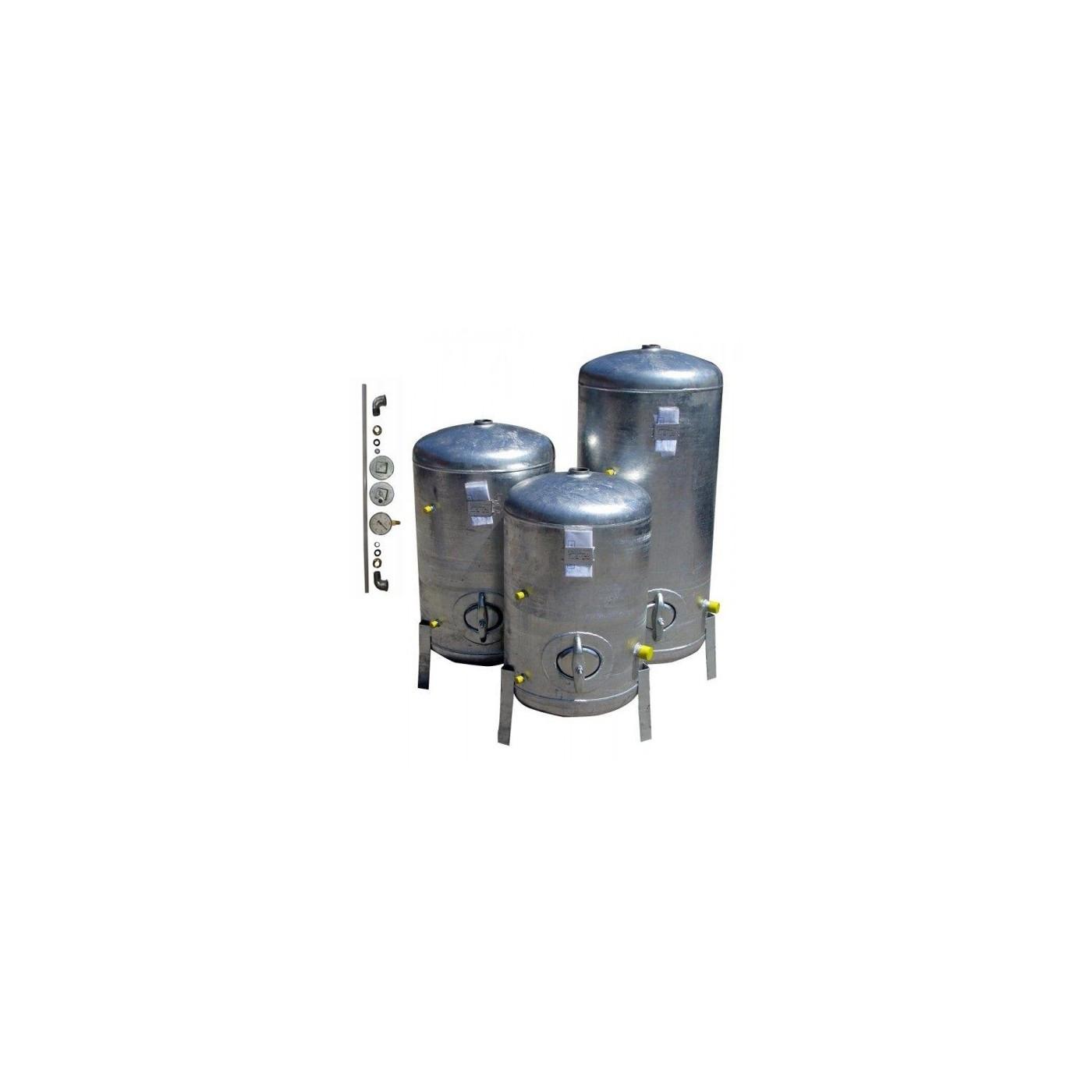 Druckbehälter 150L bis 300L Zubehör 6 bar senkrecht verzinkt  2,5 mm Dicke Druckkessel für Hauswasserwerk senkrecht