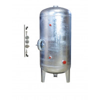 Druckbehälter 500 L Zubehör 6 bar senkrecht verzinkt  3 mm Dicke Druckkessel für Hauswasserwerk senkrecht