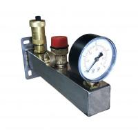 Sicherheitsgruppe INOX  Edelstahl 6 bar Trinkwasser Installation Sicherheitsarmatur